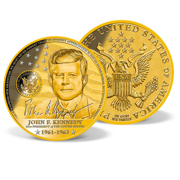 John F. Kennedy Crystal-inlaid Commemorative Coin US_2200251_1