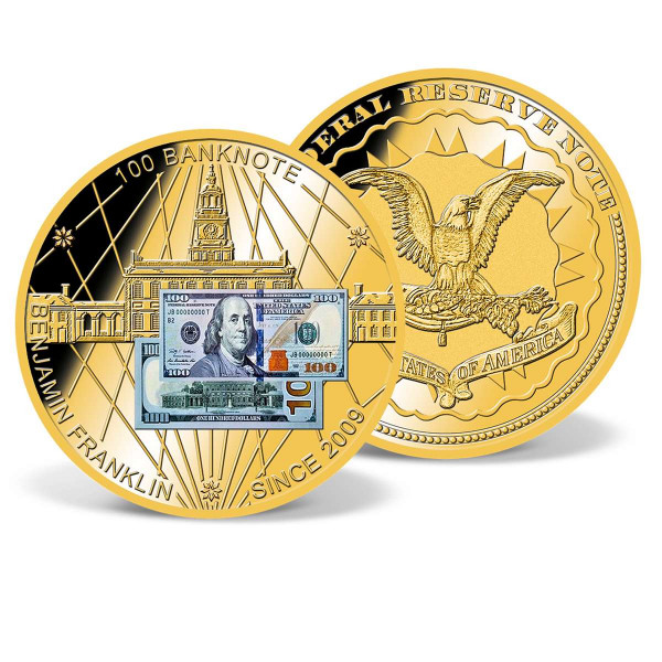 $100 Benjamin Franklin Banknote Commemorative Coin US_9184464_1
