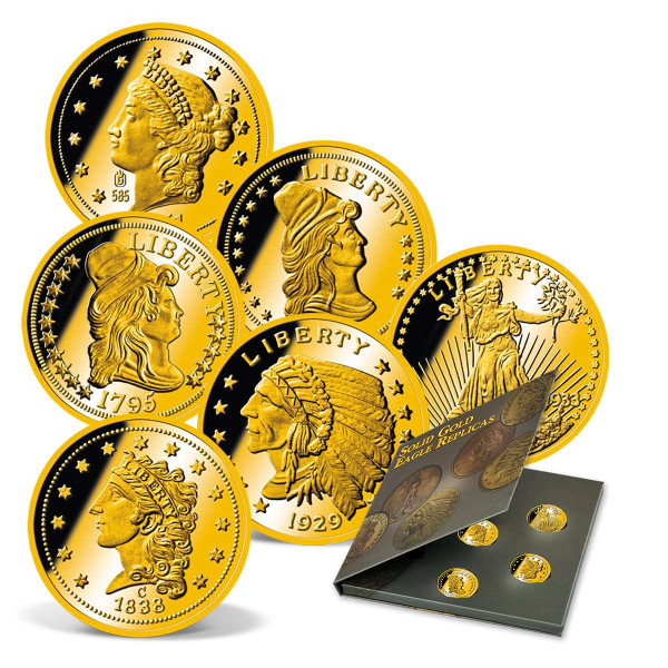 Solid Gold Eagle Replicas 7-Coin Set US_9322300_1