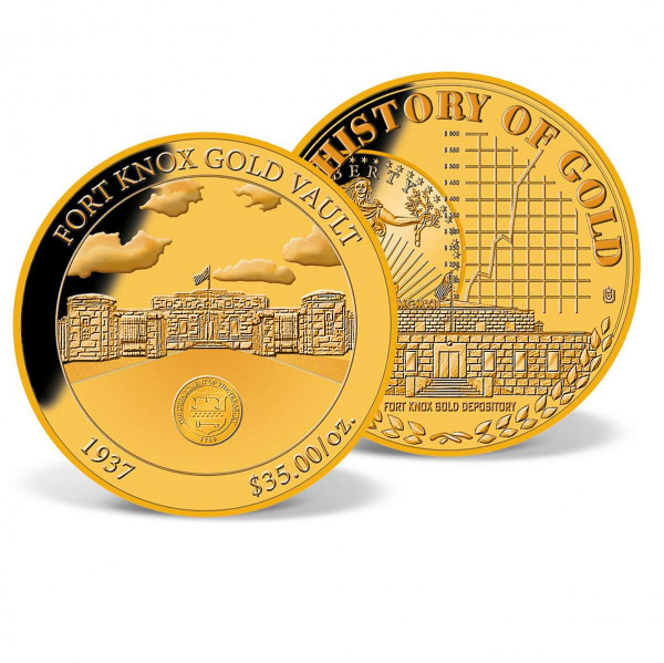 1937 Fort Knox Gold Vault Commemorative Coin US_8300317_1