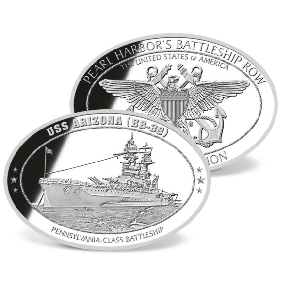 USS Arizona Oval Commemorative Coin US_1953141_4