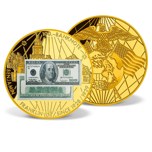 $100 Benjamin Franklin Banknote Commemorative Coin US_9181025_1