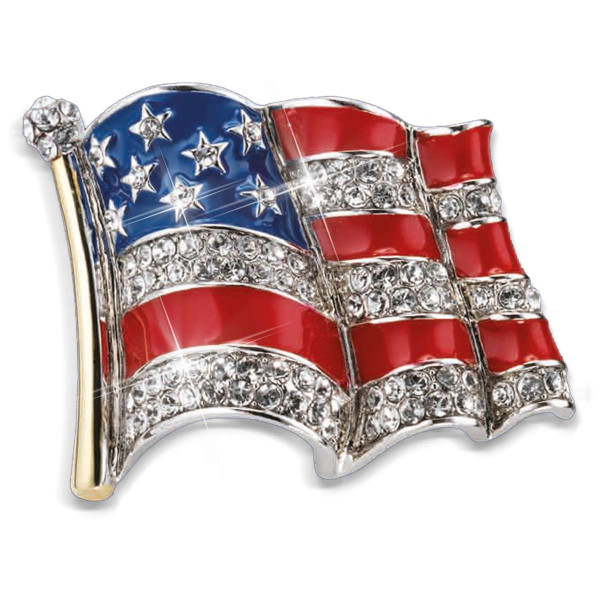 American Flag Enameled Pin US_3333465_1