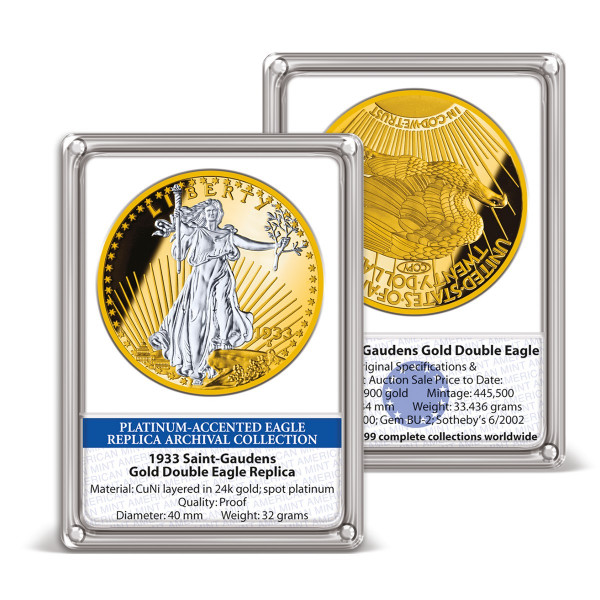 1933 Gold Double Eagle Platinum-Accented Replica Archival Edition US_8220157_1