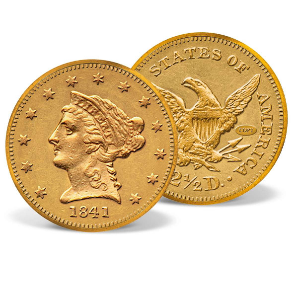 1841 Gold Coronet Quarter Eagle Replica US_8200658_1