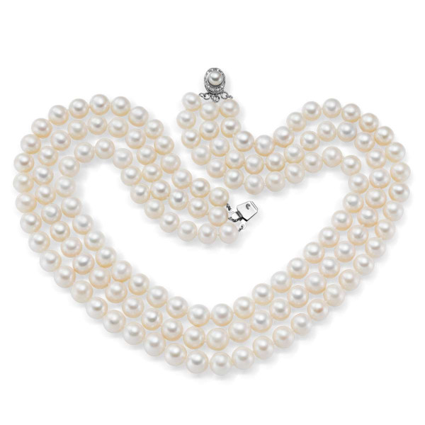 Touch of Camelot Triple-Strand Pearl Necklace US_3333070_1