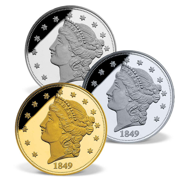 1849 Liberty Head Double Eagle Precious Metal Coin Set US_1701633_1