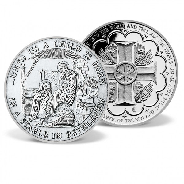 Birth of Christ Commemorative Patinated Coin US_2555925_4