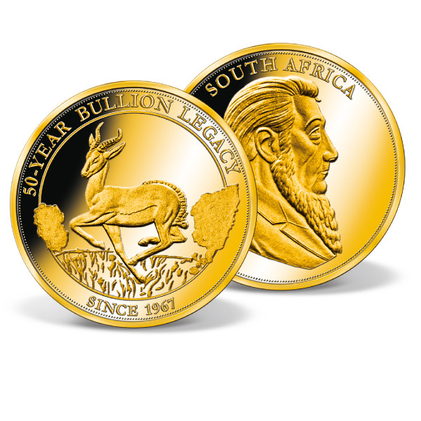 50 Years Investment Strike Commemorative Gold Coin