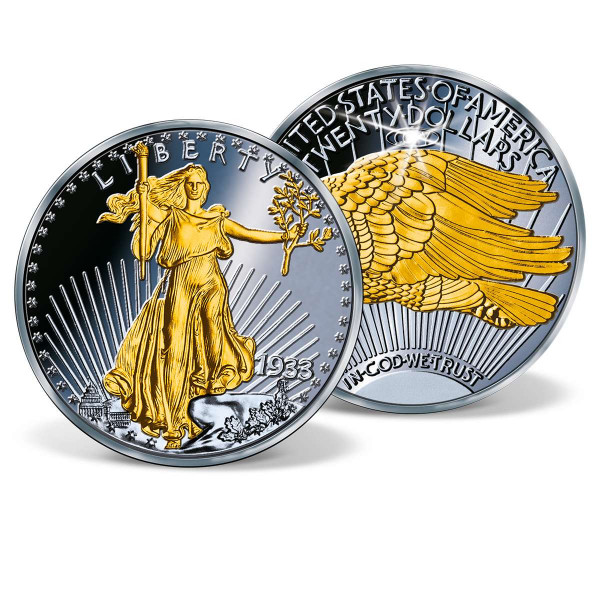 1933 Double Eagle Ruthenium-Plated Replica Coin US_8201665_1