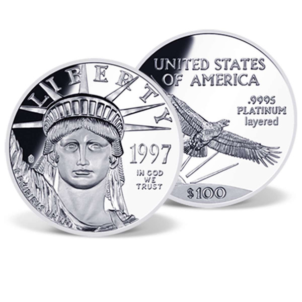 Platinum Eagle Solid Silver Replica US_9175144_1