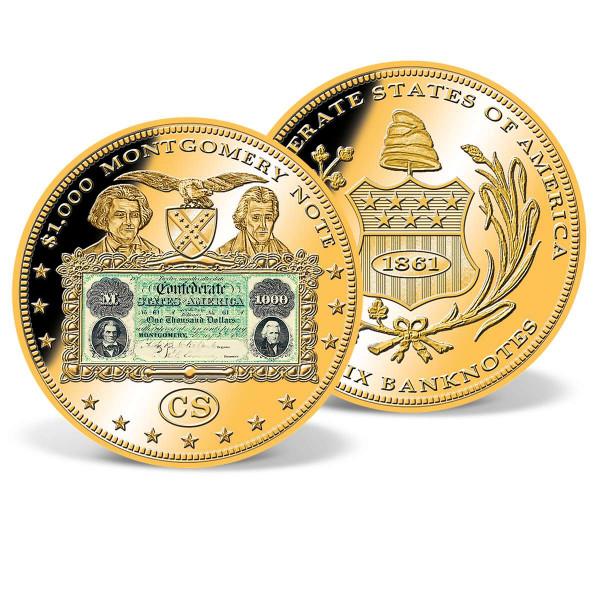 T-1 $1,000 Montgomery Note Commemorative Color Coin US_9184082_1