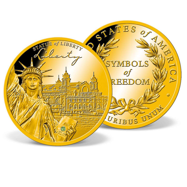 Liberty Crystal Inlay Commemorative Coin US_8300551_1