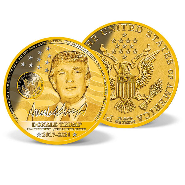President Donald Trump Crystal-Inlaid Commemorative Coin US_2200254_4