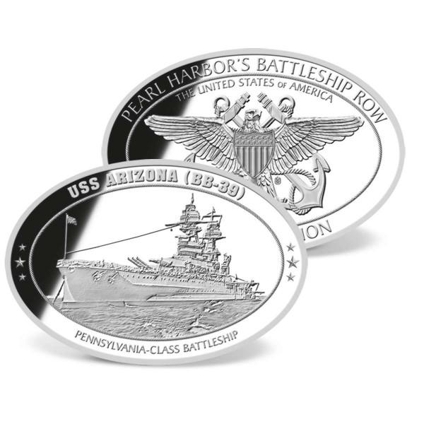 USS Arizona Oval Commemorative Coin US_1953141_1