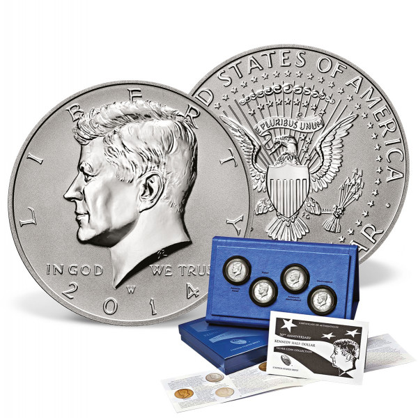 50th Anniversary Kennedy Half Dollar Silver Coin Collection US_9175481_1