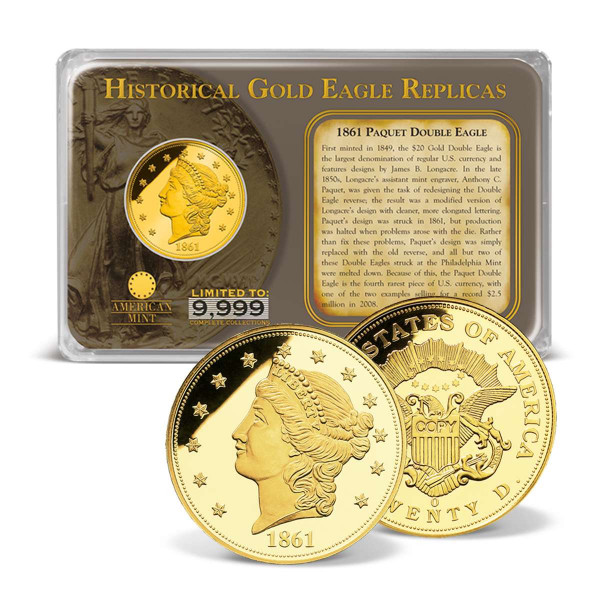1861 Paquet Gold Double Eagle Replica Tribute US_8201516_1