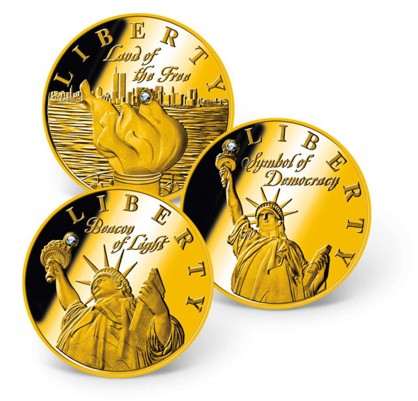 Statue of Liberty Swarovski® Inlay Coin Set US_1681290_1