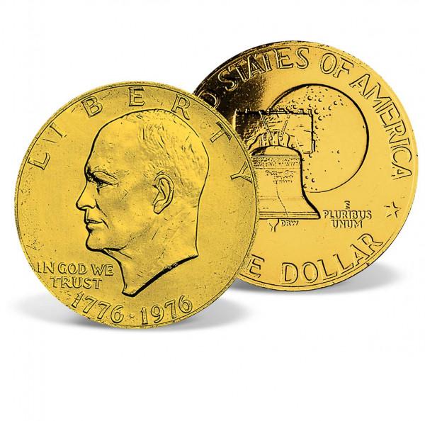 1971-1978 Eisenhower 24k Gold-plated Dollar US_2539720_4