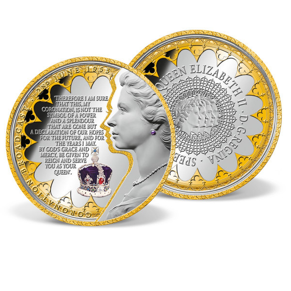 Queen Elizabeth's Coronation Speech Commemorative Coin US_8206203_1