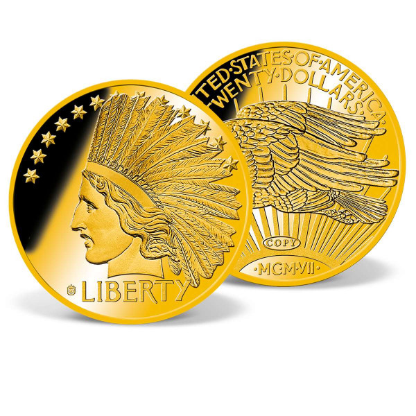 1907 Indian Head Gold Double Eagle Replica Coin US_8200883_1