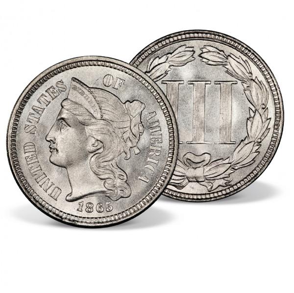 1865-1889 Three-Cent Nickel