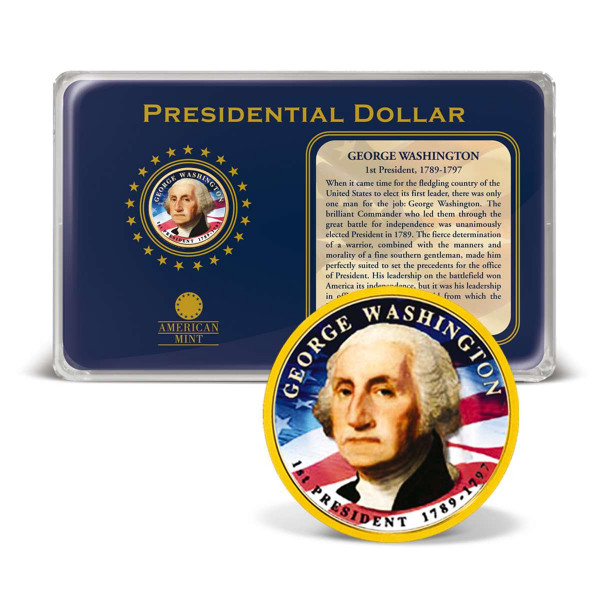 $1 George Washington Presidential Dollar Coin Tribute US_2540640_1