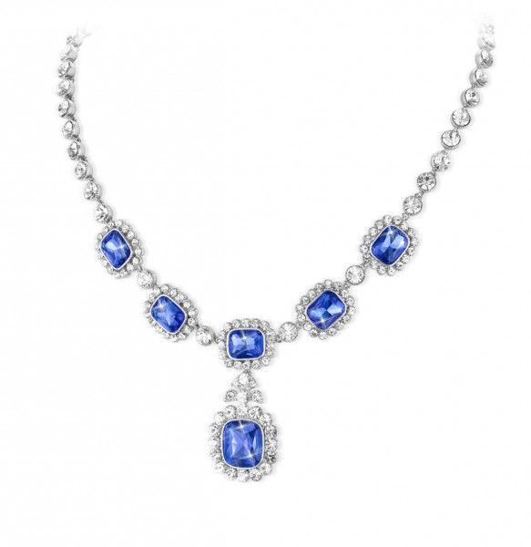 Royal Sapphire Crystal Necklace US_3008750_1
