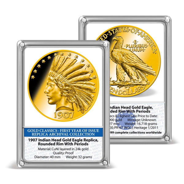 1907 Indian Head Gold Eagle Replica Archival Edition US_8201575_1