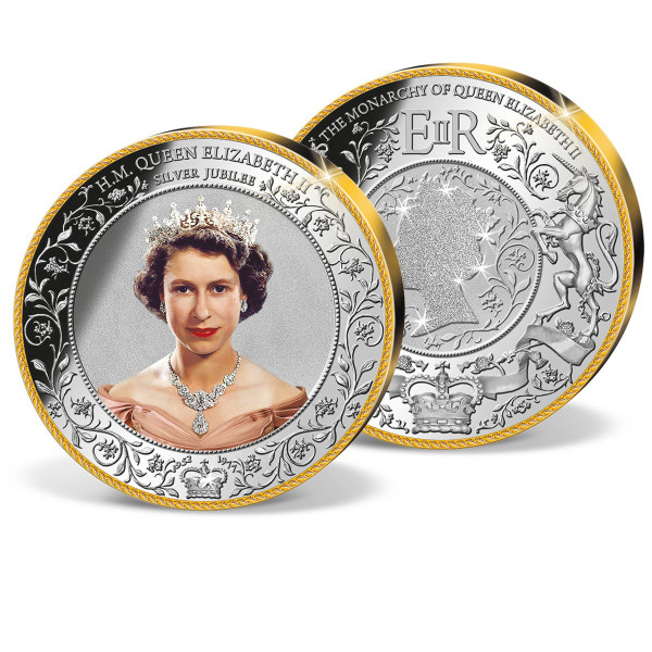 Queen Elizabeth II Silver Jubilee Colossal Commemorative Coin US_1950951_1