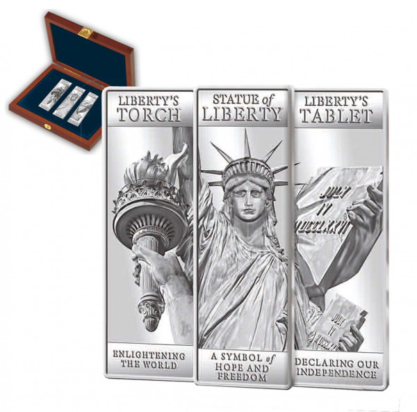 Statue of Liberty Limited Edition First Strike Ingot Set US_9171294_1