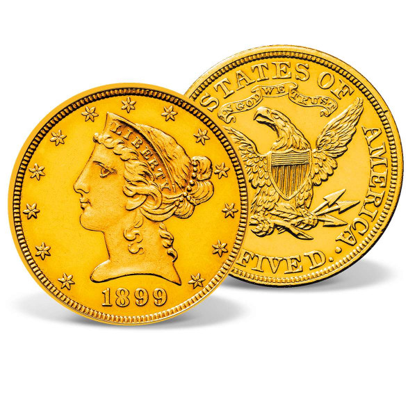 1899 $5 Liberty Half Eagle Gold Coin US_2711406_1