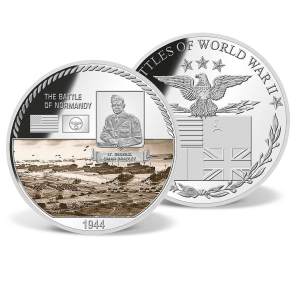 The Battle of Normandy Commemorative Color Coin US_9170658_1