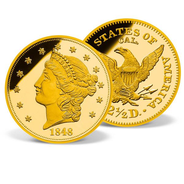 1848 Gold Quarter Eagle Replica Coin US_8200671_1