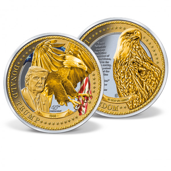 Donald Trump - Leaders of Freedom Colossal Coin