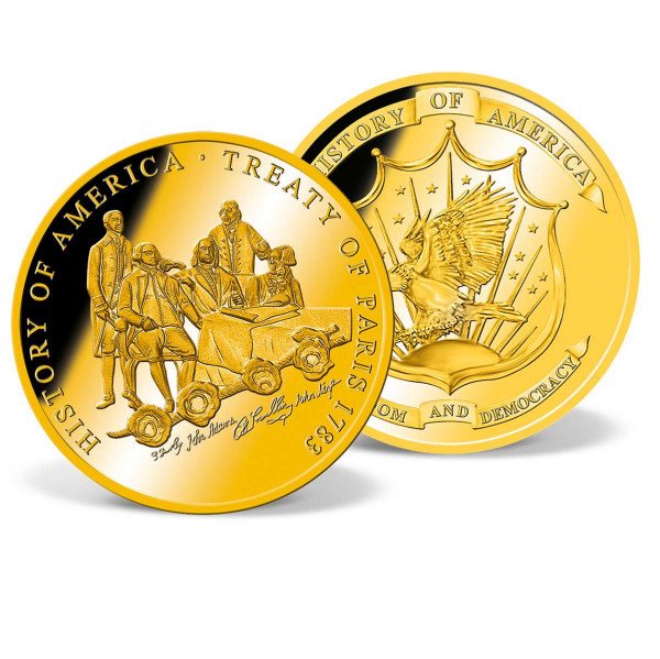 Treaty of Paris 1783 Commemorative Gold Coin US_8201286_1