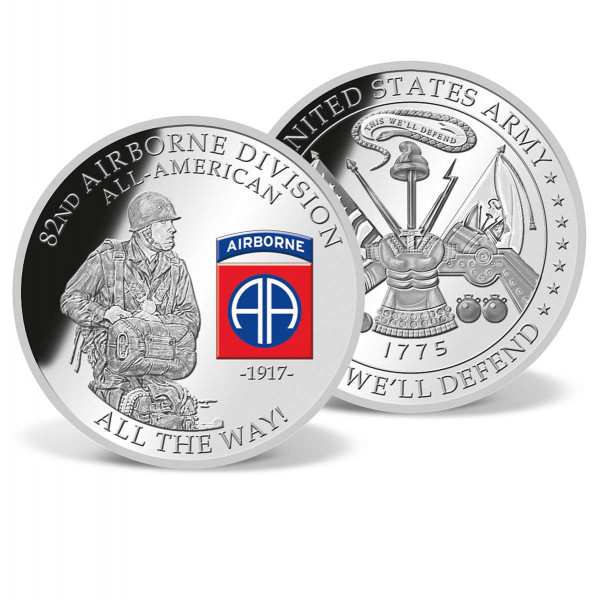 82nd Airborne Division Commemorative Color Coin US_9175220_1