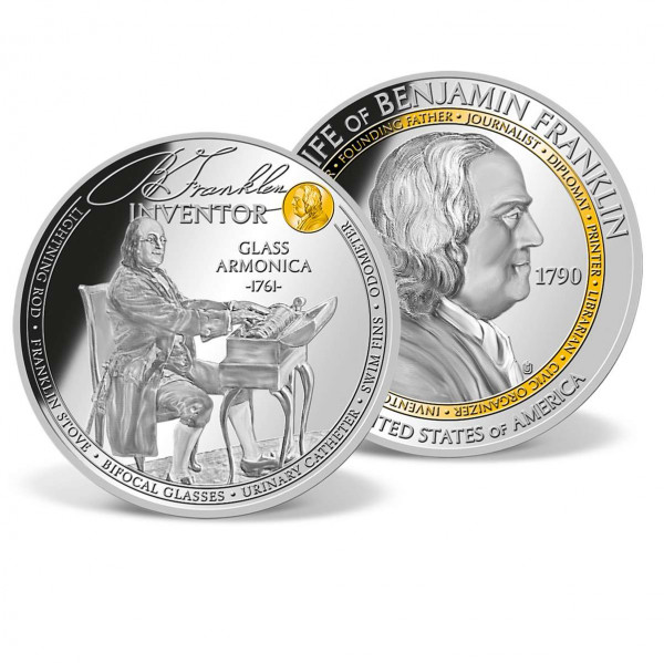 Benjamin Franklin - Inventor Commemorative Coin US_1702102_1