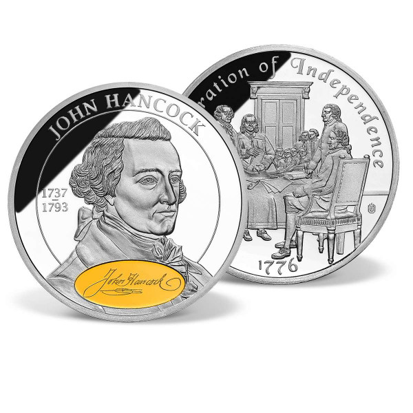 John Hancock Commemorative Gold-Accented Coin US_1702068_1