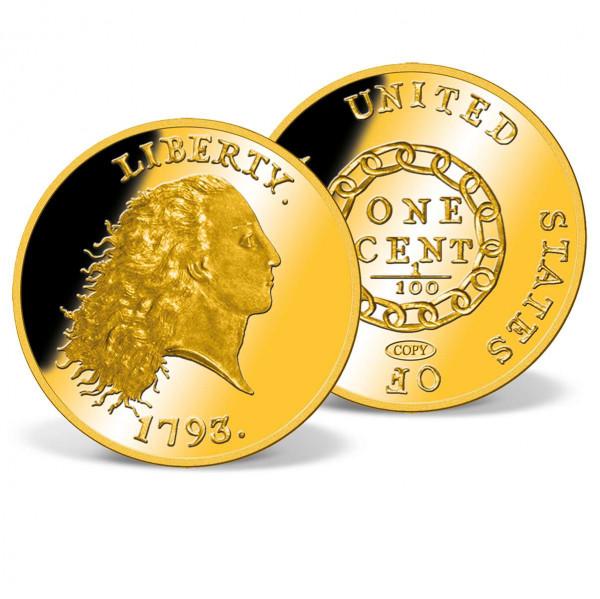 1793 Chain Cent Replica Coin US_9172538_1