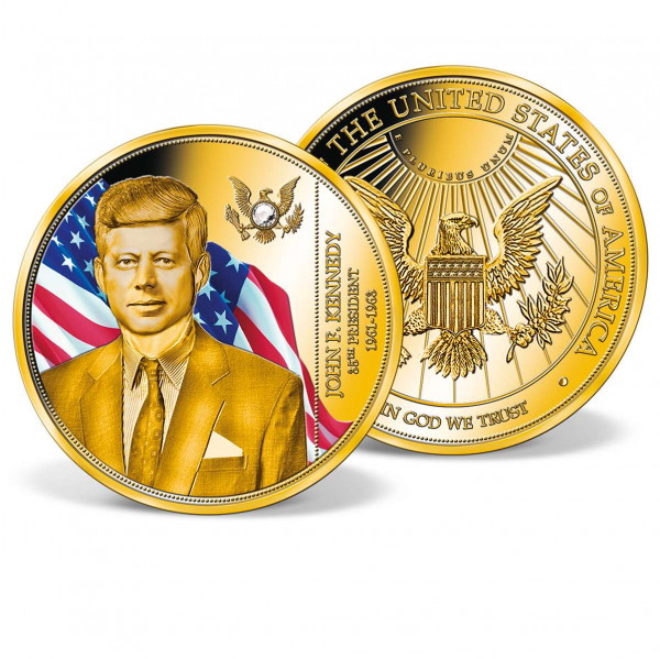 President John F. Kennedy Crystal-Inlaid Commemorative Coin US_1700310_1