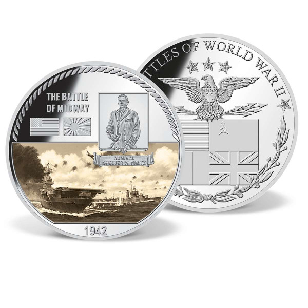 The Battle of Midway Commemorative Color Coin US_9170655_1