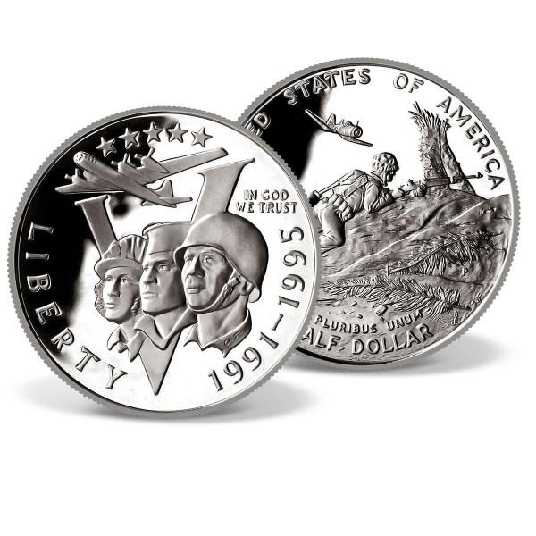 50th Anniversary World War II Half Dollar Coin US_2715869_1