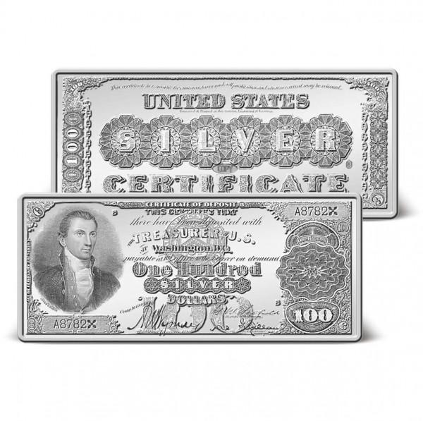 1880 $100 Silver Certificate Ingot US_9171418_1