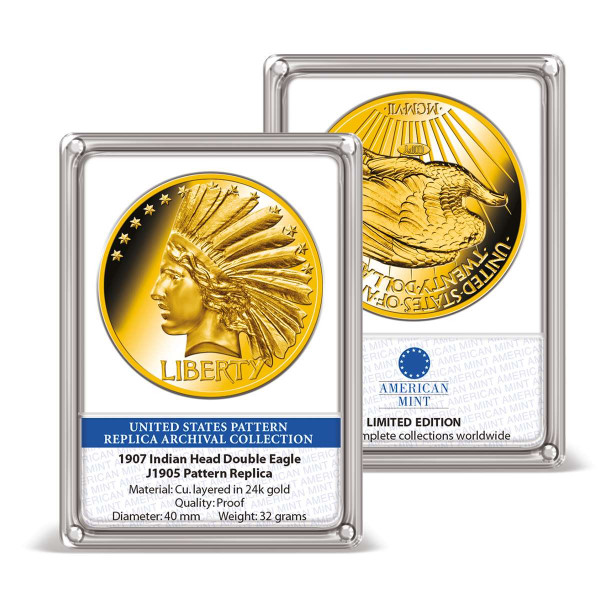 1907 Indian Head Double Eagle Pattern Replica Archival Edition $ US_8201440_1