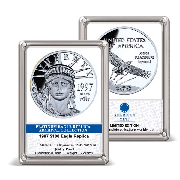 1997 $100 Platinum Eagle Replica Archival Edition US_9175700_1