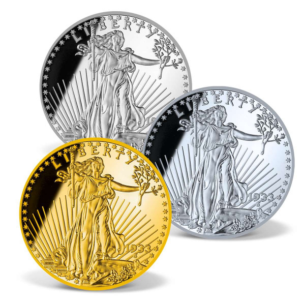 American Eagle Replica Precious Metal Coin Set US_1681266_1