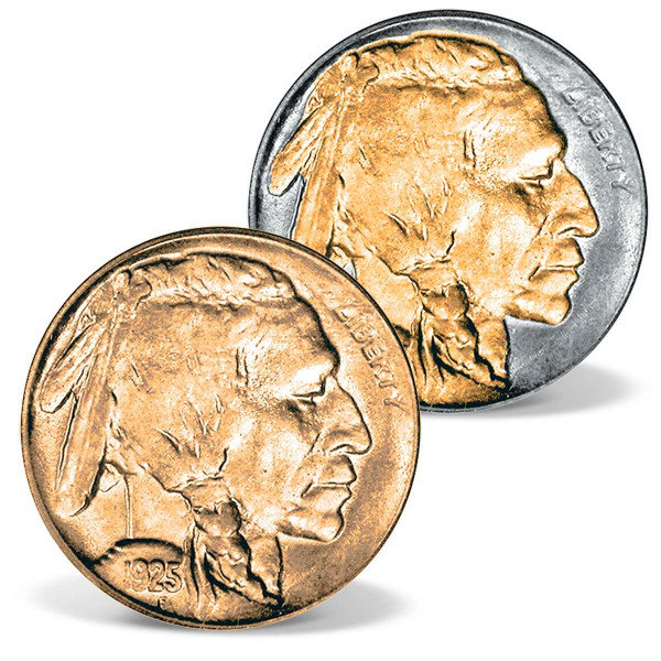 24k Gold-Accented 1935 Buffalo Nickel Set US_2511835_1