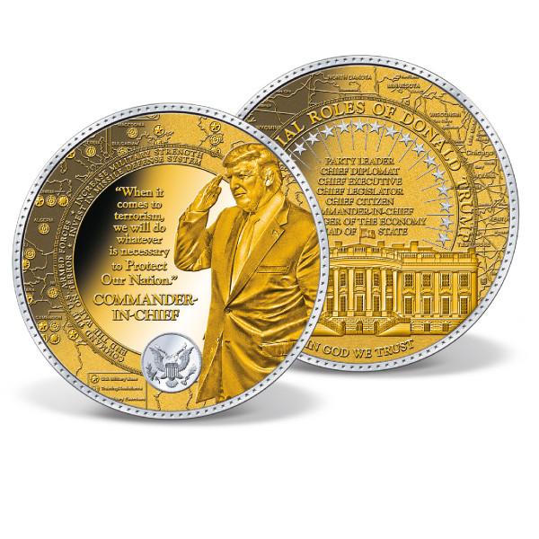 Donald Trump Commander-in-Chief Colossal Commemorative Coin