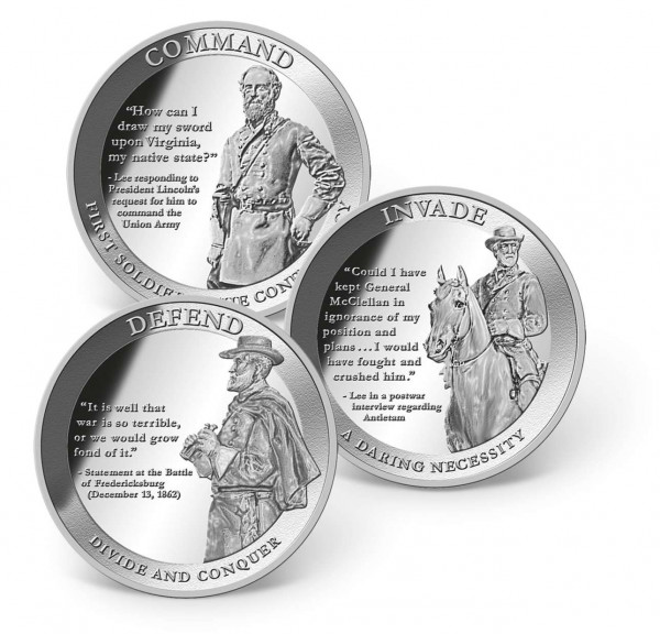Robert E. Lee - Man of Honor 1 oz. Solid Silver Commemorative Coin Set US_9175258_1